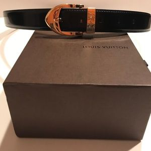 Louis Vuitton Patent Leather Unisex Belt